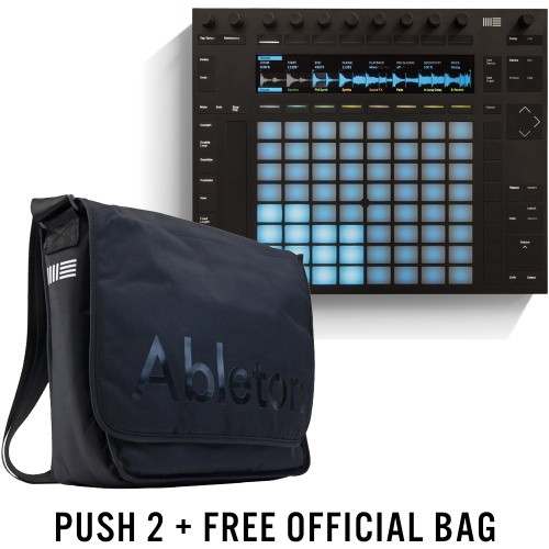 Ableton Push 2 Controller, Ableton Intro 9 + FREE Official Carry Bag