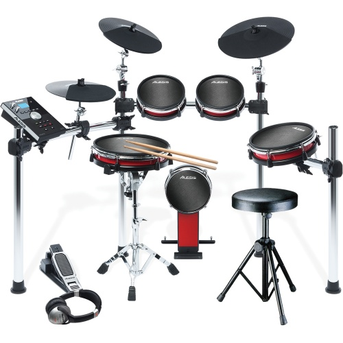 Alesis Crimson Mesh Kit 8 Piece Drum Kit  + Drum Stool, Sticks & HF125
