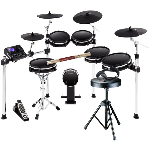 Alesis DM10 MK2 Pro, Electronic Drum Kit + Stool, Sticks & Headphones