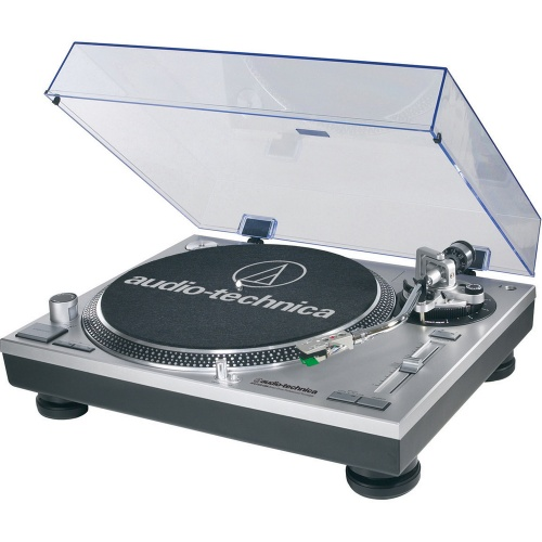 Audio Technica AT-LP120-USBHC Direct Drive Silver Turntable (Single)