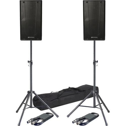 DB Technologies B-Hype 12, 400 Watt Active Speakers + Stands & Leads