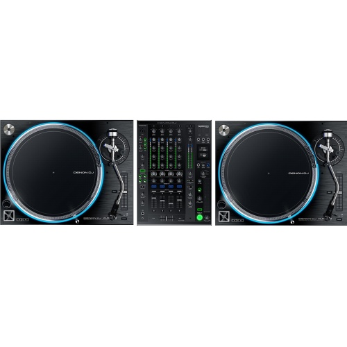 Denon 2 x VL12 Turntables + X1800 Mixer Bundle