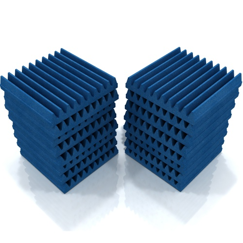 EQ Acoustics Wedge 30 Acoustic Foam Tiles (Blue) x16