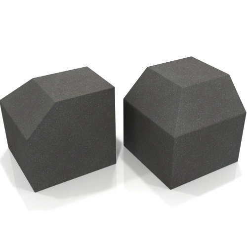 EQ Acoustics Project Corner Cube Acoustic Foam (Grey) x2