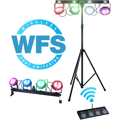 KAM COB Parbar WFS Wireless Footswitch Lighting System