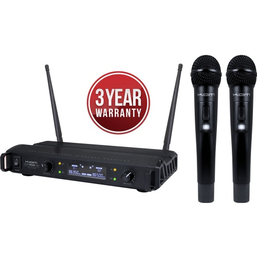 KAM KWM1932 HH Dual UHF Wireless Microphone System (863.5 - 865.0)