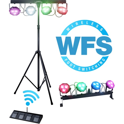 KAM LED Power Partybar Wireless Foot Switch Portable Lighting System