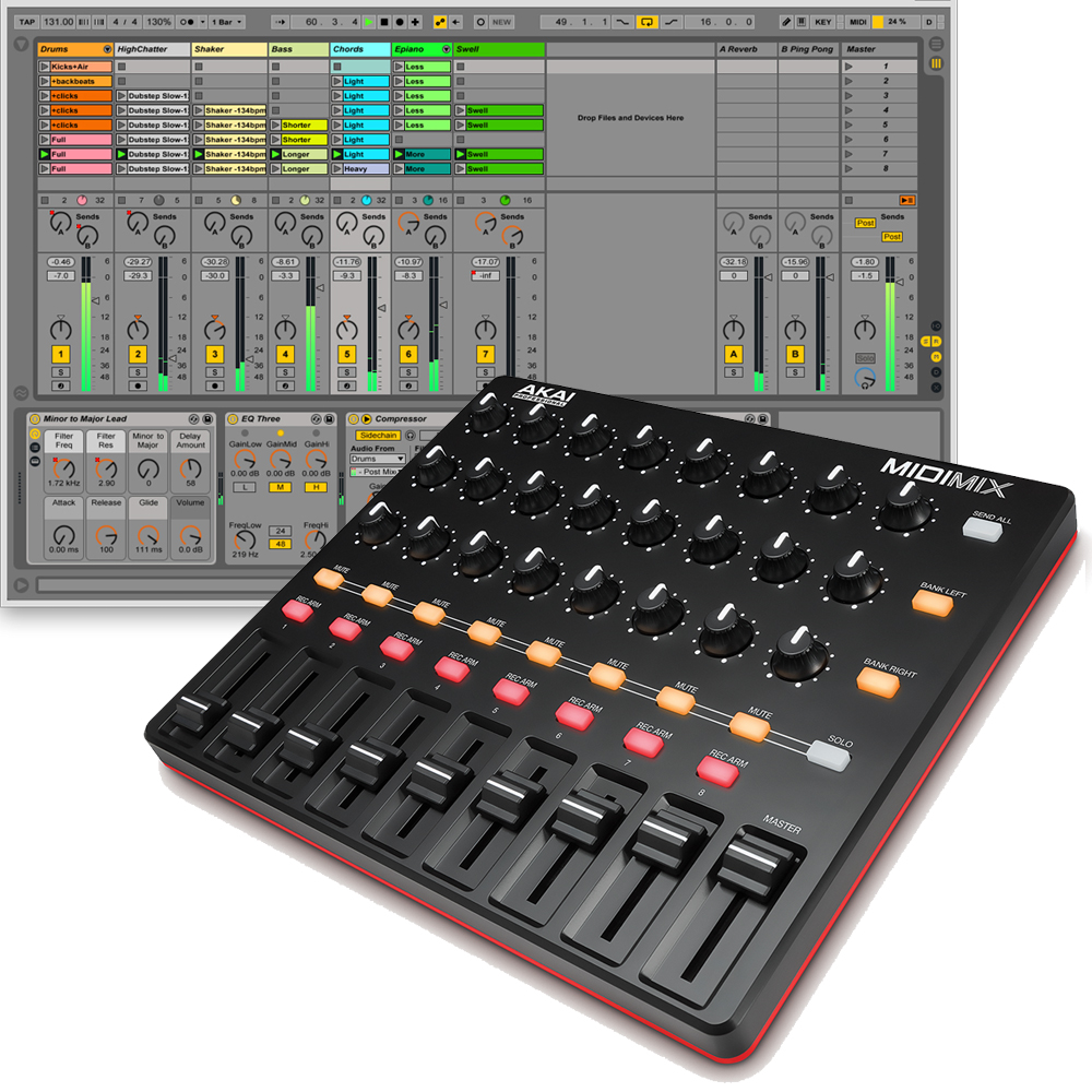 akai midimix usb mixer controller the disc dj store. Black Bedroom Furniture Sets. Home Design Ideas