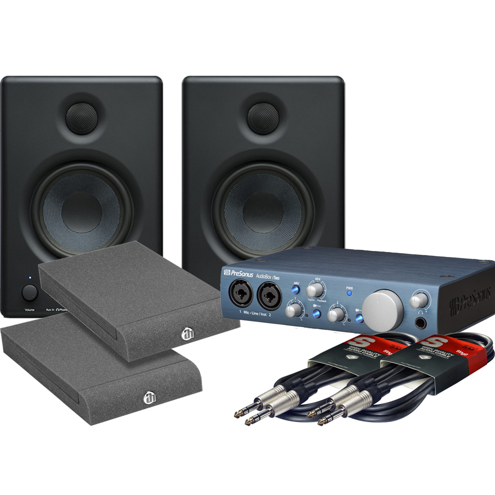 presonus eris e4 5 monitors audiobox itwo iso pads leads bundle the disc dj store. Black Bedroom Furniture Sets. Home Design Ideas