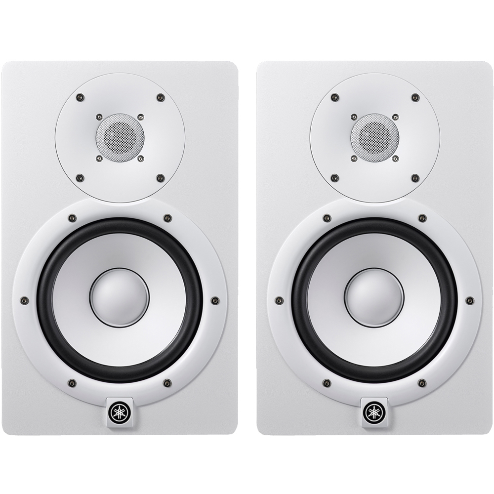 yamaha hs7 white active studio monitors pair the disc