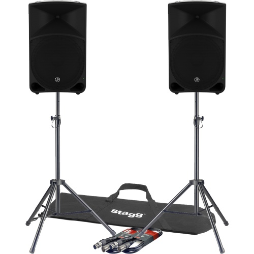 Mackie Thump 12'' Active Portable PA Speakers (Pair) + Free Stands & Leads