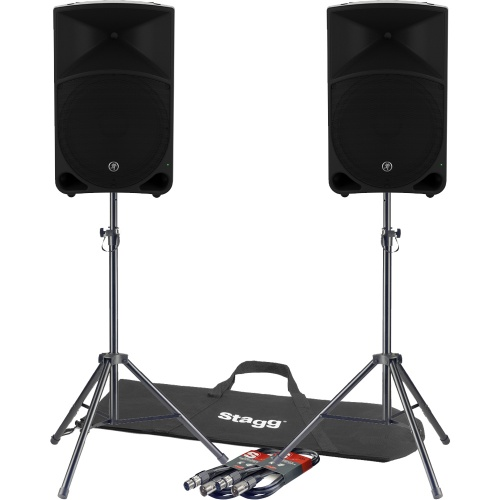 Mackie Thump 15'' Active Portable PA Speakers (Pair) + Free Stands & Leads