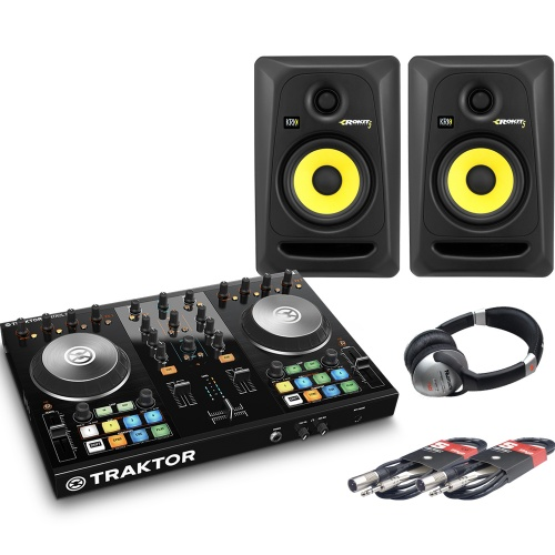 NI Traktor Kontrol S2, KRK RP5 G3 Speakers + Headphones DJ Package Deal