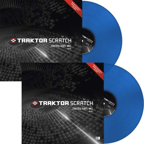 Native Instruments Traktor Scratch Blue MK2 Timecode Vinyl (Pair)