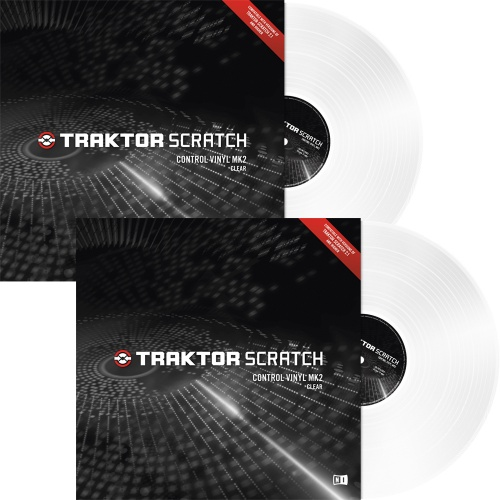 Native Instruments Traktor Scratch Clear MK2 Timecode Vinyl (Pair)