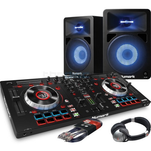 Numark Mixtrack Platinum, Numark 580L Speaker & Headphone Bundle