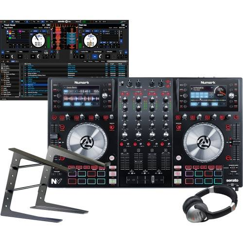 Numark NV Serato DJ Controller, Laptop Stand & Headphone Bundle