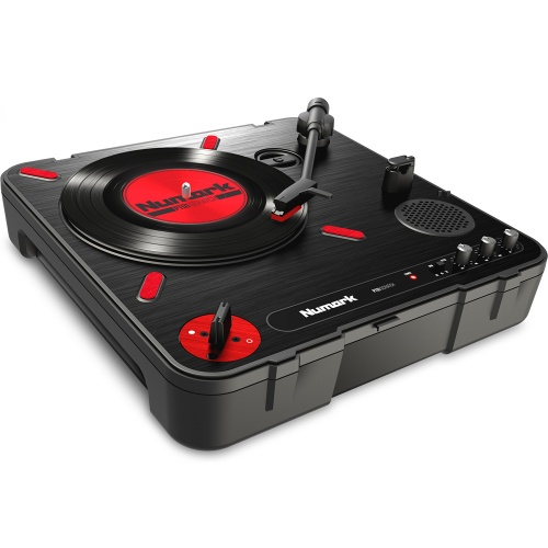 Numark PT01 Scratch Turntable With Built-In Speakers & Crossfader