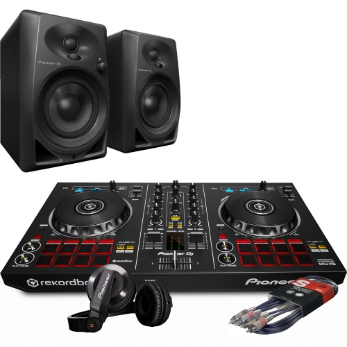 Pioneer DDJ-RB DJ Controller, DM-40 Monitors, HDJ-500K Package Deal