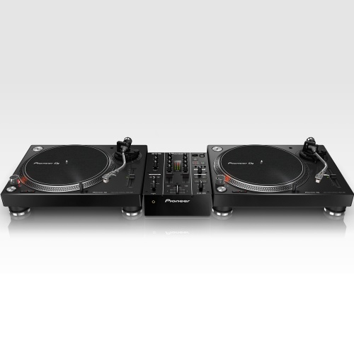 ​2 x Pioneer PLX500 Black Turntables, Pioneer DJM-350 Mixer Bundle Deal