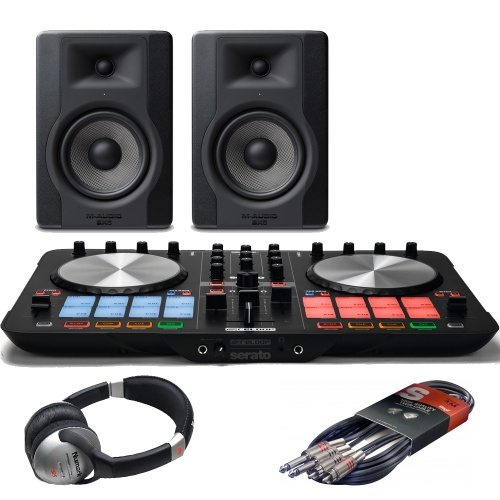 Reloop Beatmix 2 MK2 DJ Controller + M-Audio BX5 & Headphones Bundle