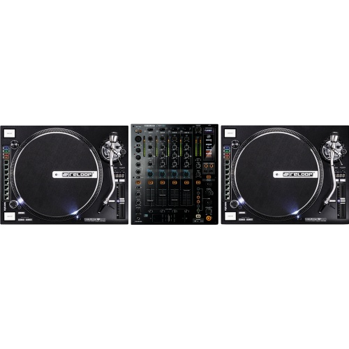 Reloop RP8000 Digital DJ Turntables With MIDI Control & RMX80 Pro Mixer