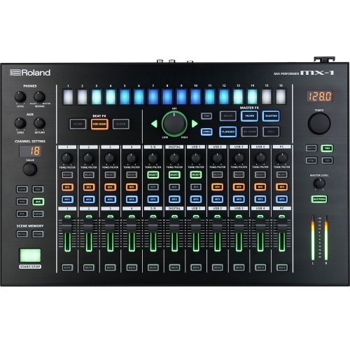 Roland Aira MX-1, 18 Channel Performance Mixer, Step Sequencer, FX