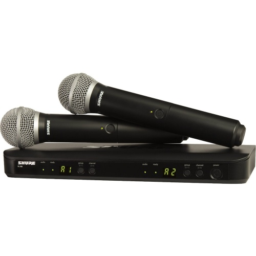 Shure BLX288/PG58 Wireless Dual UHF Vocal Microphone System