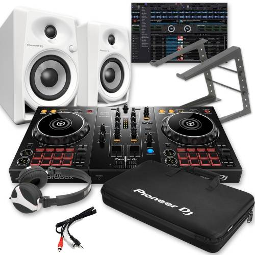​Pioneer DDJ-400, DM-40 White, Carry Bag, Laptop Stand & Headphones