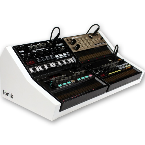 Fonik Audio Stand For 4 x Korg Volca (White)