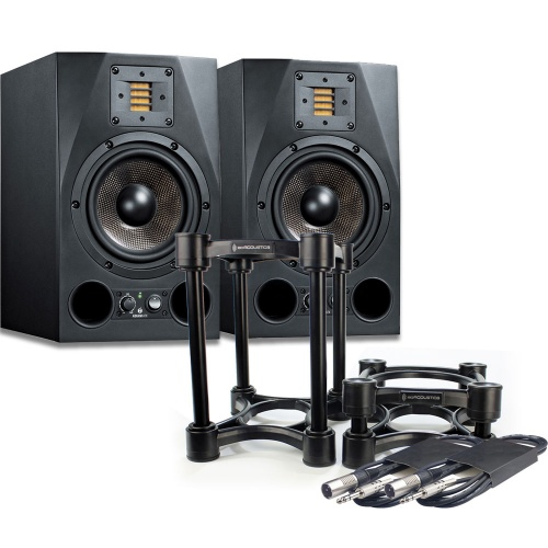 Adam Audio A7X Studio Monitors + Iso-Acoustic 155 Stands + Leads Deal