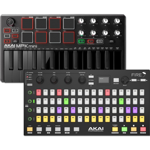 Akai Fire, Controller For FL Studio + MPK Mini MKII Black Bundle Deal