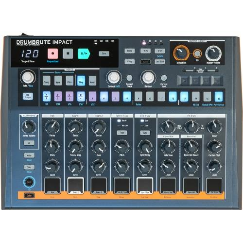 Arturia DrumBrute Impact, Compact Analogue Drum Machine & Sequencer