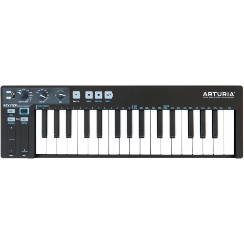Arturia Keystep Black Edition, USB Keyboard & Polyphonic Step Sequencer