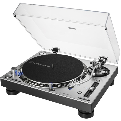 Audio Technica AT-LP140XP Silver, Direct Drive DJ Turntable (Single)