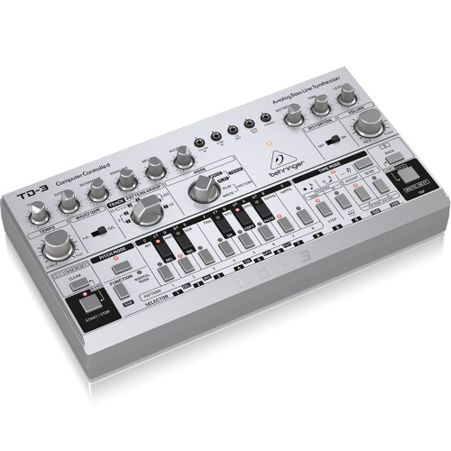 Behringer TD-3 Silver, Analogue Bassline Synthesizer