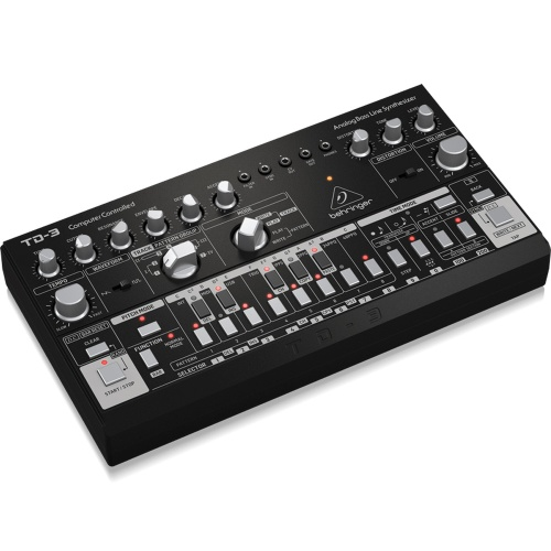 Behringer TD-3 Black, Analogue Bassline Synthesizer  (UK Power Supply)