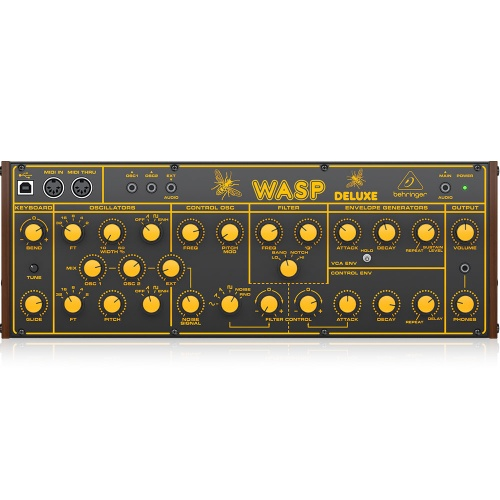 Behringer Wasp Deluxe, Hybrid Synthesizer, 16-Voice Poly-Chain