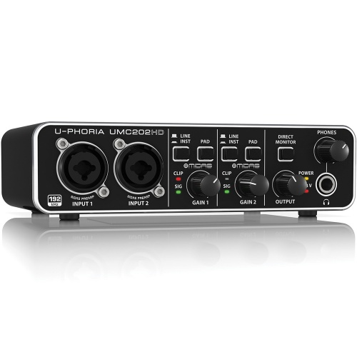 Behringer UMC202HD U-Phoria 2x2 USB Audio Interface