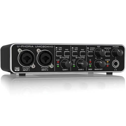 Behringer UMC204HD U-Phoria 2x4 USB/MIDI Audio Interface