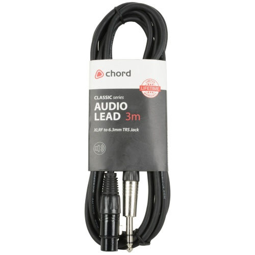 Chord Jack - XLRf Microphone Balanced Audio Cable (3 Metre)