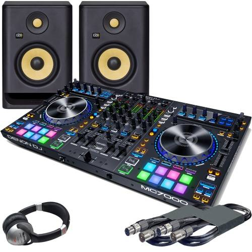 Denon MC7000, KRK RP5 G4 Monitors & Headphones Bundle