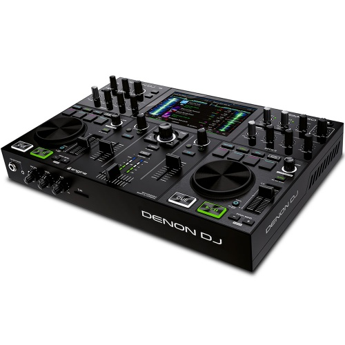 Denon Prime GO, 2-Deck Rechargeable Smart DJ Console, 7'' Touchscreen