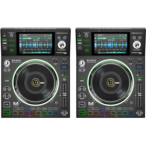 Denon SC5000M DJ Player with Motorised Platter + Touchscreen (Pair)