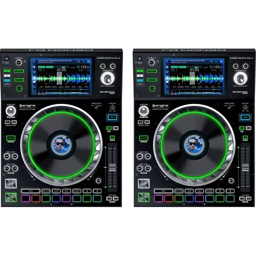 Denon SC5000 Professional DJ Multiplayer With 7'' Touch Screen (Pair)