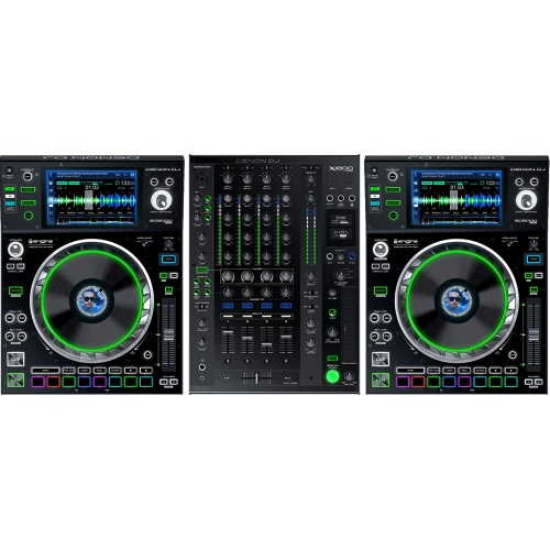 2 x Denon SC5000 Multiplayers + X1800 Pro Mixer Bundle