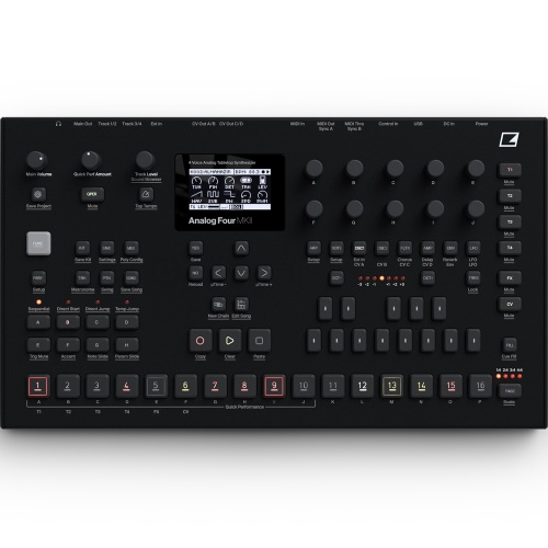 Elektron Analog Four MKII, 4 Voice Analogue Synthesizer (Black Finish)