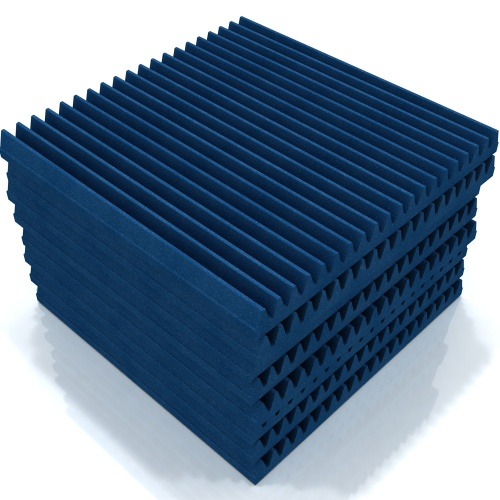 EQ Acoustics Wedge 60 Acoustic Foam Tiles (Blue) x8 (B-Stock)