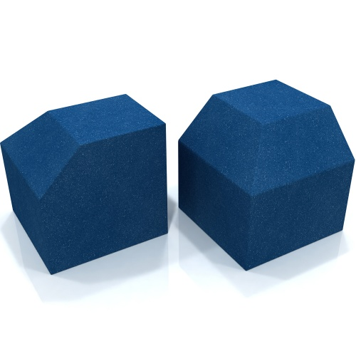 EQ Acoustics Project Corner Cube Acoustic Foam (Blue) x2