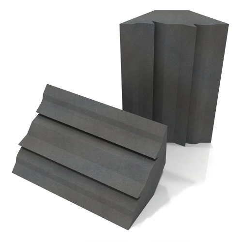 EQ Acoustics Project Corner Trap Acoustic Foam (Grey) x2